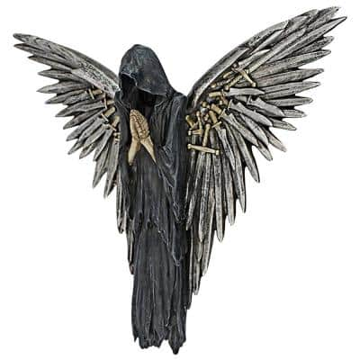 11.5 in. x 12.5 in. Soul of the Warrior Grim Reaper Wall Sculpture