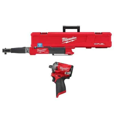 M12 FUEL One-Key 12-Volt Lithium-Ion Brushless Cordless 1/2 in. Digital Torque Wrench and 1/2 in. Impact Wrench
