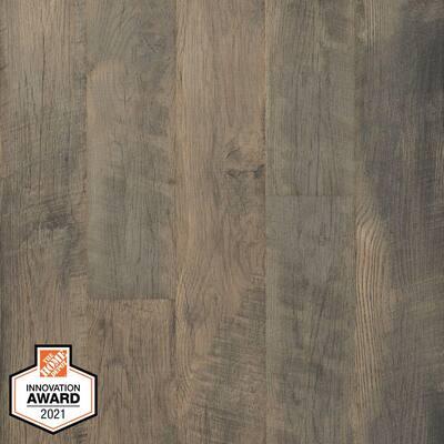 Defense+ 6.14 in. W Ashebrook Oak Antimicrobial Waterproof Laminate Wood Flooring (16.12 sq. ft./case)