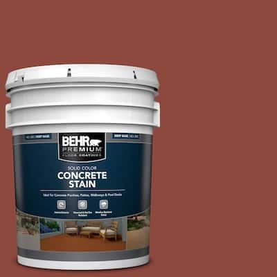 5 gal. #PFC-10 Deep Terra Cotta Solid Color Flat Interior/Exterior Concrete Stain