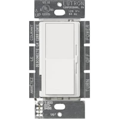 Diva 450-Watt Dimmer for Magnetic Low Voltage, Single-Pole, White