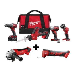 M18 18-Volt Lithium-Ion Cordless Combo Tool Kit (4-Tool) w/ 4-1/2 in. Cut-Off/Grinder and Multi-Tool