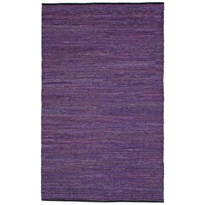 Leather Purple 2 ft. 6 in. x 4 ft. 2 in. Accent Rug