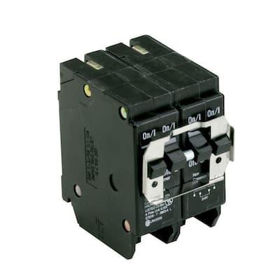 BR 1-20 Amp 2 Pole and 1-30 Amp 2 Pole BQC (Common Trip) Quad Circuit Breaker