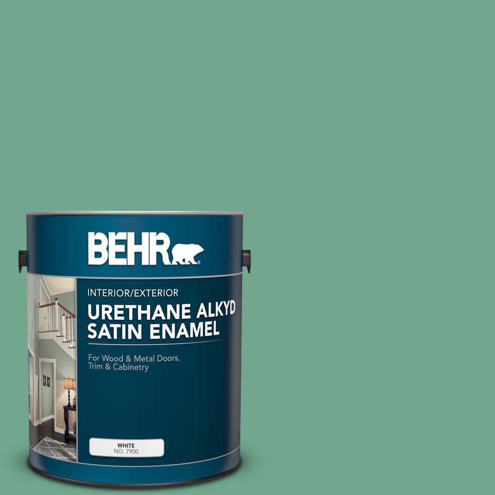 1 gal. #M420-5 Free Green Urethane Alkyd Satin Enamel Interior/Exterior Paint