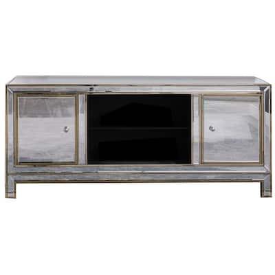 Brimmington 60 in. Silver Mirrored TV Stand