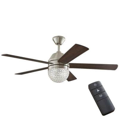 Vendome 52 in. LED Brushed Nickel Ceiling Fan with Light and Remote Control