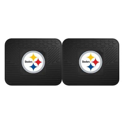 NFL Pittsburgh Steelers Black Heavy Duty 2-Piece 14 in. x 17 in. Vinyl Utility