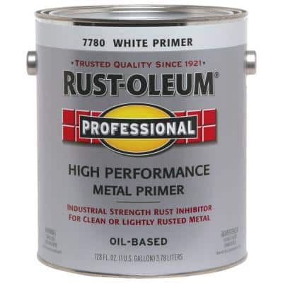 1 gal. High Performance Flat White Oil-Based Interior/Exterior Metal Primer (2-Pack)