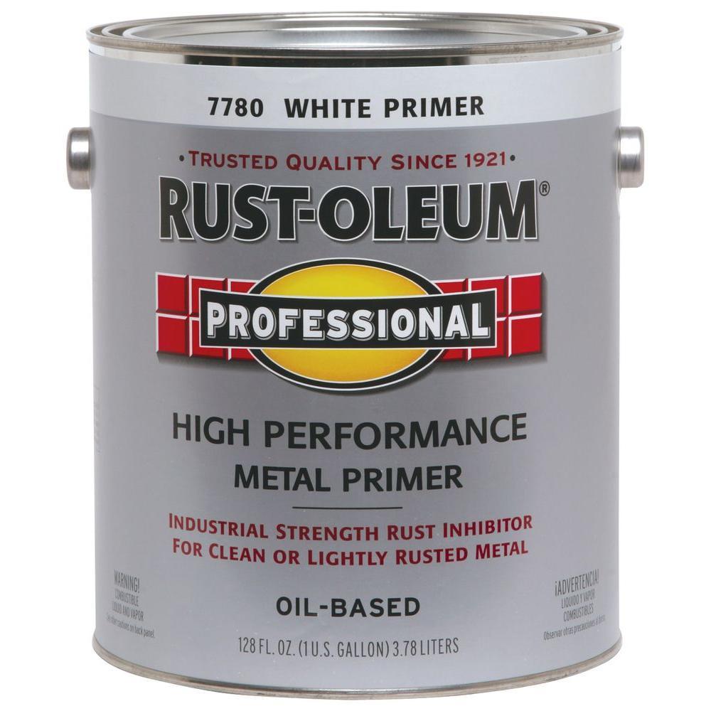 1 gal. High Performance Flat White Oil-Based Interior/Exterior Metal Primer (2-Pack)