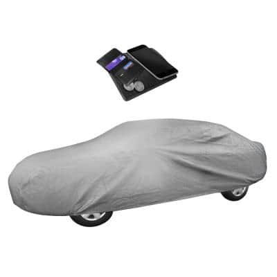 210 in. x 70 in. x 47 in. X-LARGE Non-Woven Water Resistant Exterior Sedan Car Cover