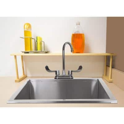 29.87 in. x 6.00 in. x 8.5 in. Over-the-Sink Wooden Shelf