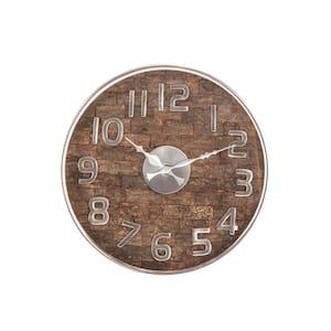 Rustic 13 x 13 inch round wall clock