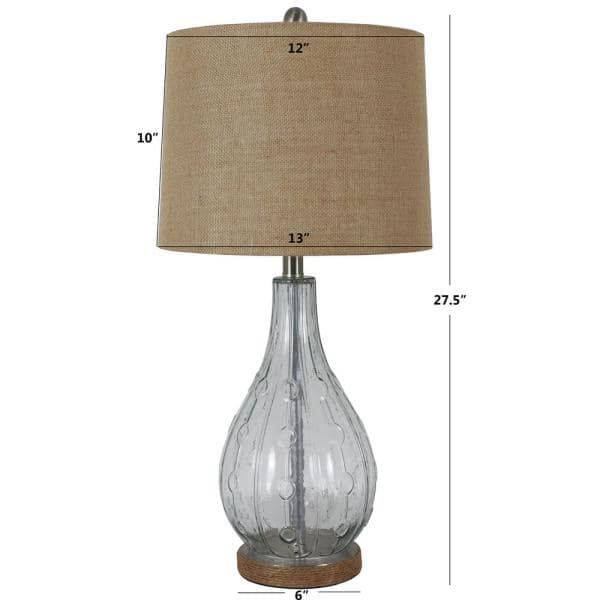 Decor Therapy Emma Embossed 27 5 In, Home Depot Table Lamps For Bedroom