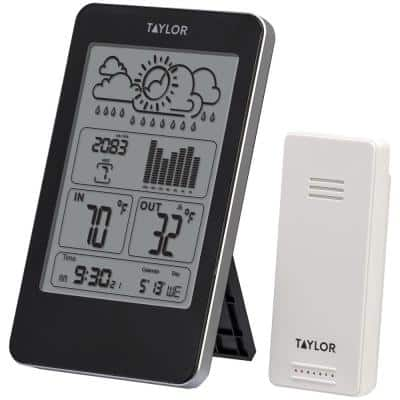 Indoor/Outdoor Digital Thermometer with Barometer and Timer
