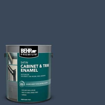 1 gal. #M500-7 Very Navy Satin Enamel Interior Cabinet and Trim Paint