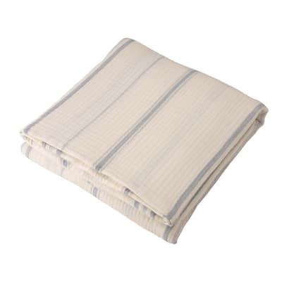 Full Queen Cotton Stripe Quilt