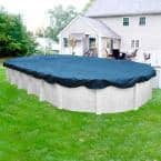 Heavy-Duty 18 ft. x 33 ft. Oval Imperial Blue Winter Pool Cover