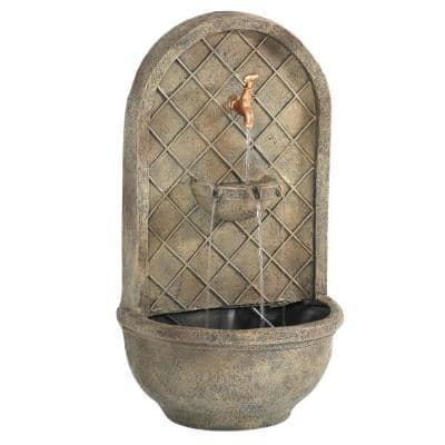 Messina Florentine Stone Electric Powered Wall Fountain