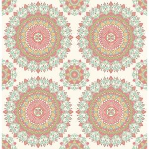 Coachella, Gemma Aqua Boho Medallion Paper Strippable Wallpaper Roll (Covers 56.4 sq. ft.)