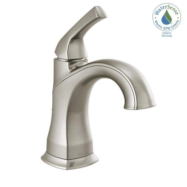 Delta Portwood Single Hole Single Handle Bathroom Faucet In Spotshield Brushed Nickel 15770lf Sp The Home Depot