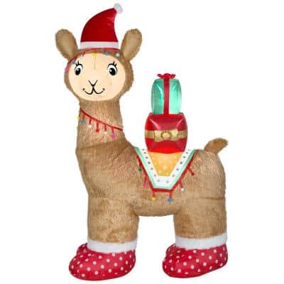7 ft Pre-Lit LED Airblown Luxe Alpaca Christmas Inflatable