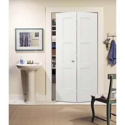 36 in. x 80 in. Birkdale Primed Smooth Hollow Core Molded Composite Interior Closet Bi-fold Door