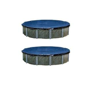 15 ft. Round Blue Above Ground Pool Winter Swimming Cover (2-Pack)