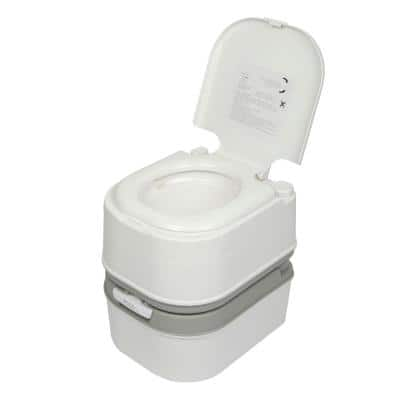 18 in. Portable Toilet for Outdoor Activities, Non-Electric, Waterless Toilet, White