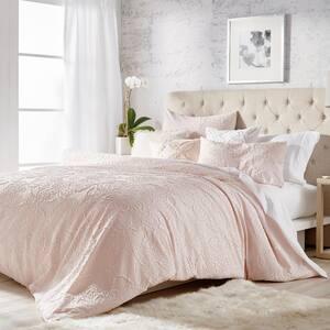 3-Piece Blush Full/Queen Comforter Set