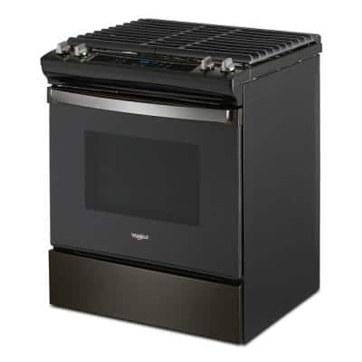 5 cu. ft. Gas Range with Frozen Bake Technology in Black Stainless