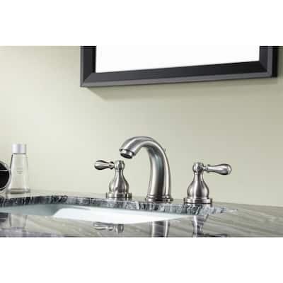 Merchant 8 in. Widespread 2-Handle Bathroom Faucet in Brushed Nickel