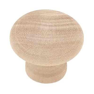 Rowland 1-1/4 in. (32 mm) Birch Wood Round Cabinet Knob