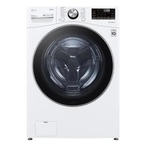 27 in. 5.0 cu. ft. Mega Capacity White Smart Front Load Washing Machine with TurboWash360, Steam