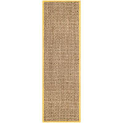 Natural Fiber Beige/Gold 2 ft. 6 in. x 8 ft. Indoor Runner Rug