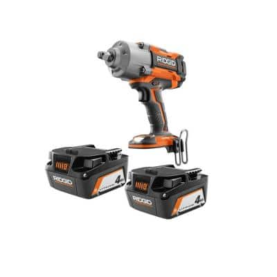 18V OCTANE Brushless Cordless 1/2 in. High Torque 6-Mode Impact Wrench with Belt Clip and 4.0 Ah Battery (2-Pack)