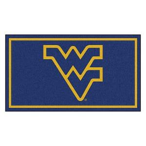NCAA West Virginia University 3 ft. x 5 ft. Ultra Plush Area Rug
