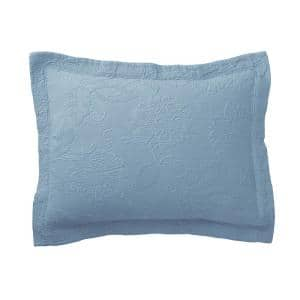 Putnam Matelasse Dusty Blue Cotton Decorative Sham