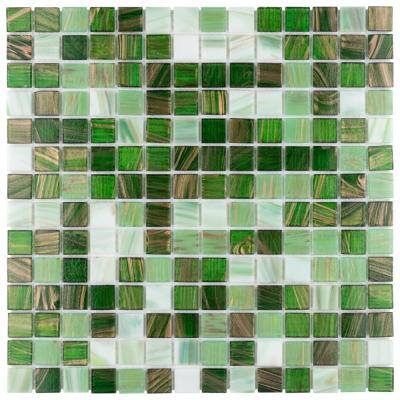 Take Home Tile Sample - Coppa Forest 6 in. x 6 in. Glass Mosaic