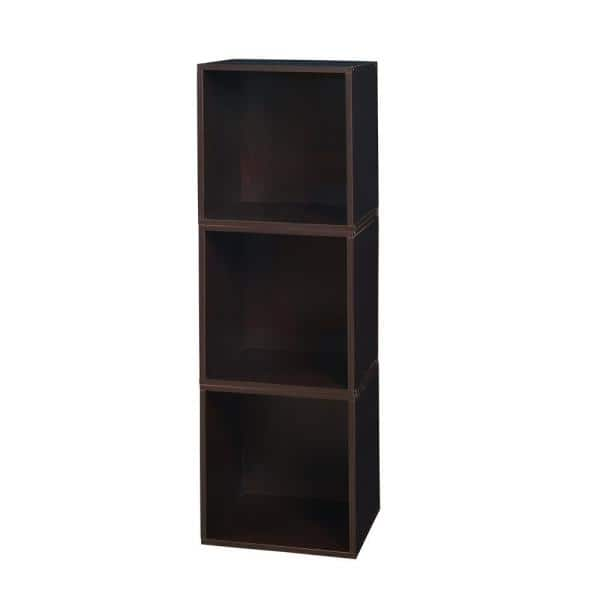 Regency 39 In H X 13 In W X 13 In D Truffle Wood 3 Cube Storage Organizer Hdchpc3pktf The Home Depot