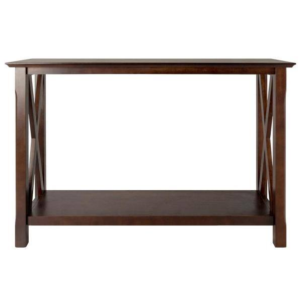 Winsome Wood Xola 45 In Cappuccino Standard Rectangle Wood Console Table With Storage 40445 The Home Depot