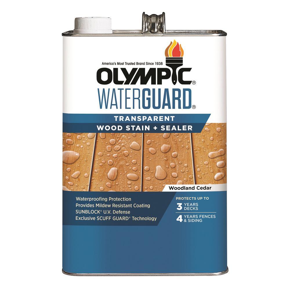 WaterGuard 1 gal. Woodland Cedar Transparent Wood Stain and Sealer