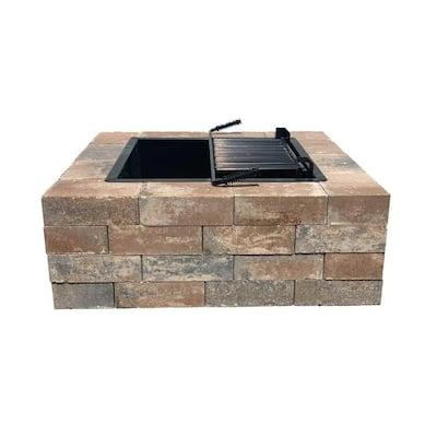 Easton 44 in. Square Concrete Napoli Fire Pit Kit