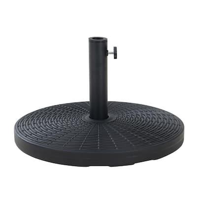 Sloan 55 lbs. Round PE Steel Patio Umbrella Base in Black