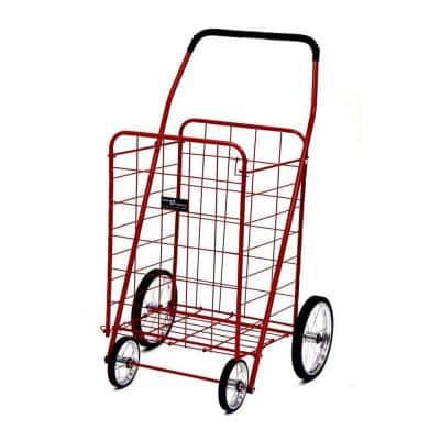 Jumbo Shopping Cart in Red