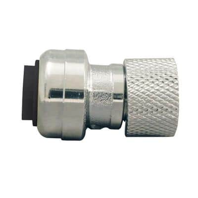 1/4 in. (3/8 in. ) Chrome Plated Brass Push-To-Connect x 3/8 in. Compression Stop Valve Connector