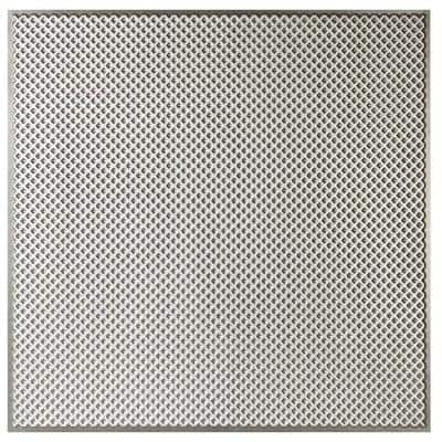Kingsbridge 2 ft. x 2 ft. Lay-in or Glue-up Border Ceiling Tile in Antique Silver (48 sq. ft. / case)