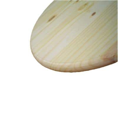 1 in. x 2 ft. x 2 ft. Pine Edge Glued Panel Round Board