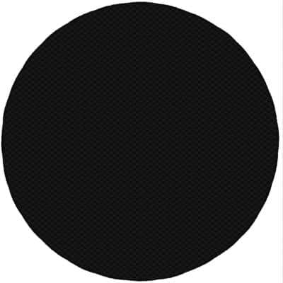 Medallion Black 7 Ft. 6 In. Round Area Rug