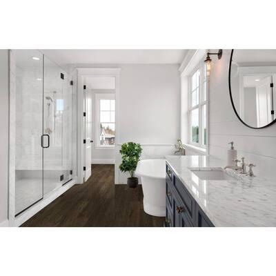 Sepia Brown Hickory 6.5mmT x 6.5in.W x 48in. Varied L. Waterproof Engineered Click Hardwood Flooring (21.67 sq.ft./case)